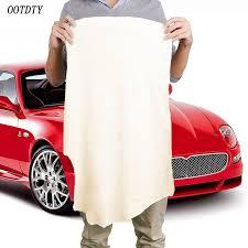 nettoyer si e voiture tissu chamois peau naturel de qualité chamois en cuir serviettes de