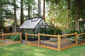 vancouver vegetable garden fence shed contemporary with trees