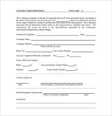 template of form template rfp template for construction