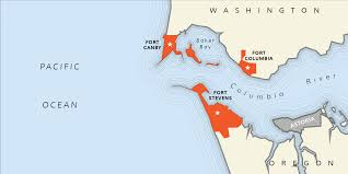 Columbia River Map Columbia River Harbor Defense System Outdoor Project