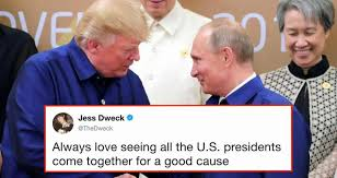 Putin Meme - trump and putin shook hands in matching outfits and twitter is