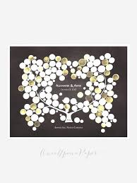 modern wedding guest book modern wedding guestbook rustic tree plum tree