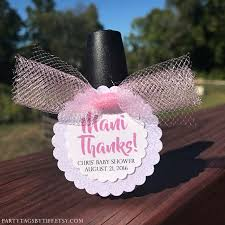 nail polish favor tags baby shower thank you tags mani thanks
