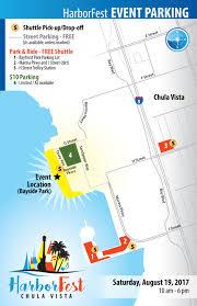 Trolley San Diego Map by Location Map U0026 Parking Chula Vista Harborfest Aug 19 2017