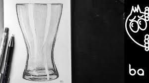 Vase Drawing Glass Vase Drawing Youtube