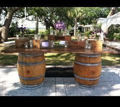 Wine Barrel Patio Table 25 Best Wine Barrels Outdoors Images On Pinterest Gardening