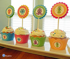 cupcake wrappers monster bash in blue green red u0026 yellow