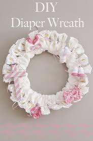 diy diaper wreath for baby shower