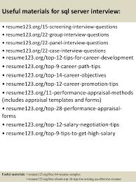 Serving Resume Template Top 8 Sql Server Resume Samples