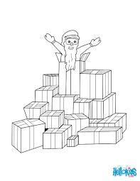 santa surprise coloring pages hellokids com