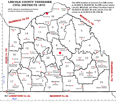 Tennessee Map With Counties by Young Begin
