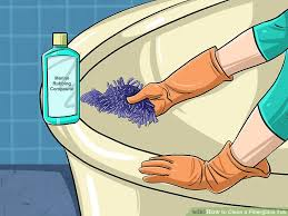 Fiberglass Bathtub Cleaner 3 Ways To Clean A Fiberglass Tub Wikihow