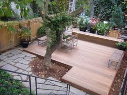 Pergola And Decking Designs by Backyard With Pergola And Low Deck Low Decks For Great Additions