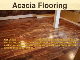 acacia flooring finished with pvc coating