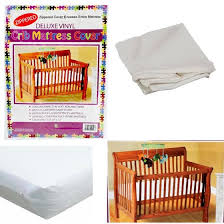 Bed Bug Crib Mattress Cover Crib Size Zippered Mattress Cover Vinyl Toddler Bed Allergy Dust