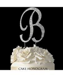 b cake topper silver monogram cake toppers cake supplies baking supplies