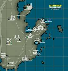 Map Of Salem Massachusetts by Salem Region Map Fallout 4