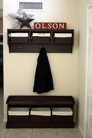 Free Deacon Storage Bench Plans by Ana White Entryway Bench And Storage Shelf With Hooks Diy Projects