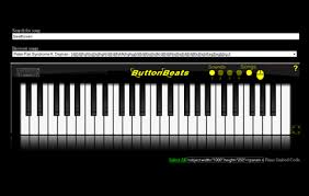 buttonbeats virtual piano black free download and software