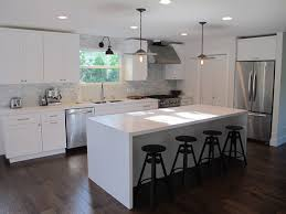 modern kitchen island design gallery of marble topped kitchen