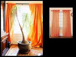 And Orange Curtains Orange Curtains Drapes Window Treatments