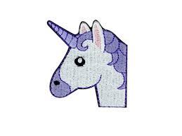 Greece Flag Emoji Unicorn Face Emoji Embroidered Iron On Patch Free Shipping