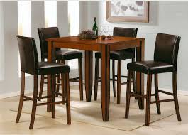 Black Bistro Table And Chairs Rectangle Lacquered Mahogany Wood Pub Table Combined Black Vinyl