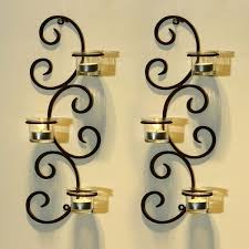 Vertical Wall Sconce Adeco Brown Iron Vertical Wall Hanging Accents Candle Holder