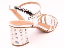 silver formal sandals