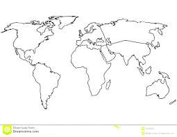 World Map Blank Map by Outline Map Of Europe Continent With World Map Outline Blank