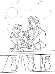 belle coloring pages and prince adam coloringstar