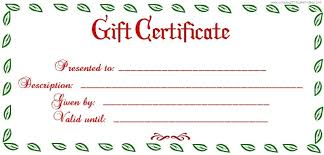 blank christmas gift certificate templates free template business