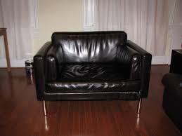 ikea sofa hacks sater 2 5 seat sofa to leather chair ikea hackers ikea hackers