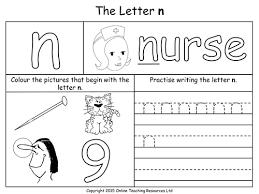 all worksheets letter n printable worksheets printable