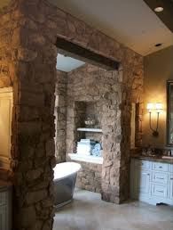 Bathroom With Stone Simple Natural Bathroom Decoration In Traditional Style Home
