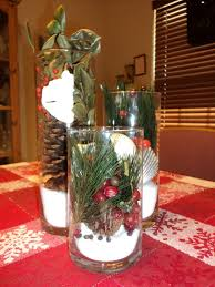 gorgeous easy christmas centerpieces party table design with clear