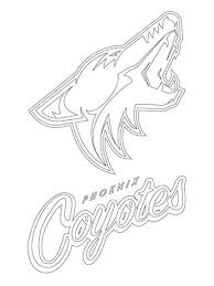 phoenix coyotes logo coloring free printable coloring pages