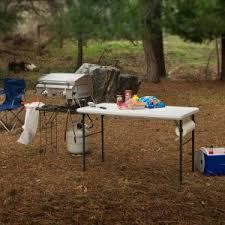 lifetime folding tables 4 lifetime 4 ft white granite tailgate folding table with metal grill