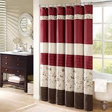 Shower Curtain Washing Machine Amazon Com Madison Park Serene Embroidred Shower Curtain Red