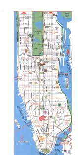 Manhattan New York Map by Download Map Manhattan Major Tourist Attractions Maps
