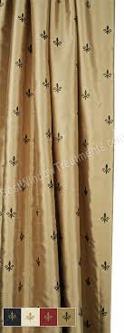 Fleur De Lis Curtains Custom Pinch Pleat Fleur De Lis Curtain Panel Lined