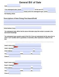 bill of sale template car general bill of sale form income assessment form free printable
