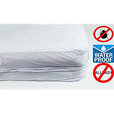 Mattress Bed Bug Cover Amazon Com The Allergy Store Vinyl Zippered Mattress Cover