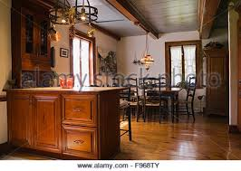 Dining Room High Back Chairs by Antique Wooden Dining Table And High Back Chairs In The Dining