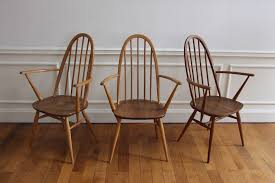 Ercol Armchairs Set Of 8 Ercol Dining Chairs Vintage Nicechairs
