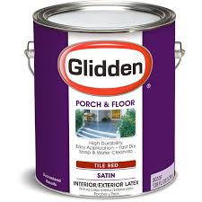 glidden porch u0026 floor paint grab n go eggshell finish tile red