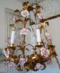 porcelain chandelier roses italian ceramic chandelier medium size of porcelain pink