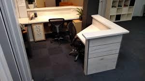 Reception Office Desk Whitewashed Office Desk Home Furniture Decoration
