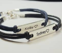 his and hers engraved bracelets couples name bracelets personalized bracelets for couples