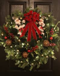 santa s elves large battery operated wreath with timer